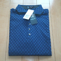 エムケーオムのグリッドブロックポロシャツです。