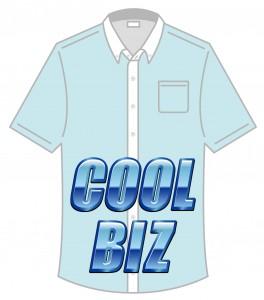 クールビズの半袖ワイシャツスタイルです。