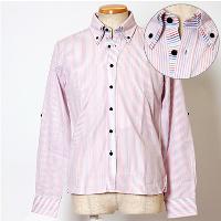 メンズスタイルのストライプのシャツです。