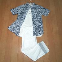 ウィゴーのプリント半袖シャツのコーデ2です。