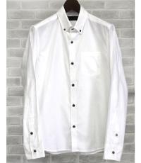 バーズアイの長袖カジュアルシャツ