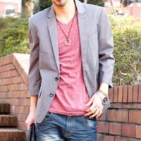 メンズスタイルの春テーラードジャケットコーデです。