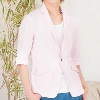 メンズファッション+の春カラーのテーラードジャケットコーデです。