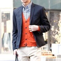 メンズスタイルの秋テーラードジャケットコーデです。