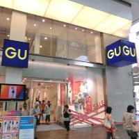 ジーユーの店舗です。