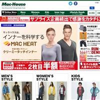 マックハウスの通販サイトです。