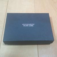バーバリー・ブラックレーベルの名刺入れの箱です。