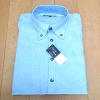 メンズファッションプラスのブルーシャツです。