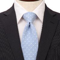 スーツカンパニーの水色ドット柄ネクタイです。
