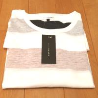 avvのボーダー半袖Tシャツの畳み状態です。
