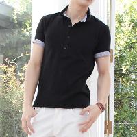 スプートニクスのブラックポロシャツです。