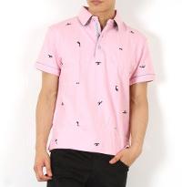 スプートニクスのピンクポロシャツです。