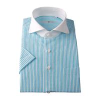 スーツセレクトのクレリックグリーンシャツです。