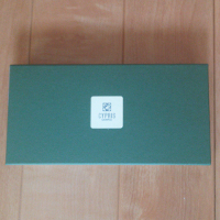 キプリス オイルシェルコードバン&ブライドルレザーの箱です。