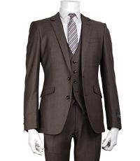 スーツセレクトのブラウン系スーツとジレのコーデです。