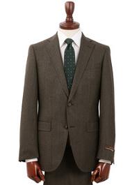 スーツカンパニーの濃いベージュスーツです。