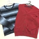セーターとカーディガンです。