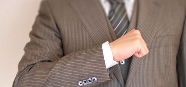 スーツはTPOをわきまえて。