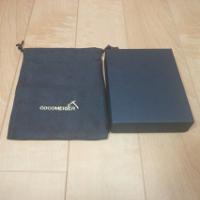 ココマイスター財布の箱です。