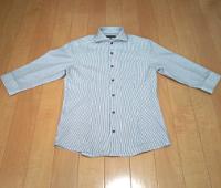 ミッシェルクランのストライプホリゾンタルカラーシャツです。