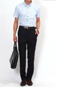 メンズスタイルの半袖クールビズです。