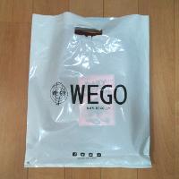 WEGOの袋の裏面です。
