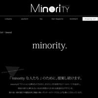 マイノリティの通販サイトです。