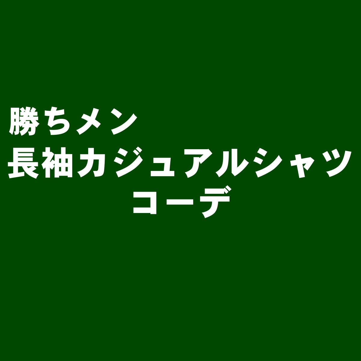 長袖カジュアルシャツコーデ