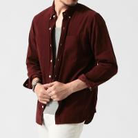 ビームスの長袖シャツ秋コーデです。