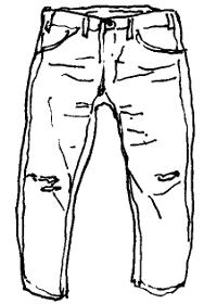 色落ちジーンズについて。
