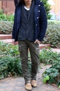 メンズスタイルの冬テーラードジャケットコーデです。