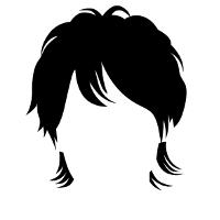 耳が隠れる長めの髪型です。