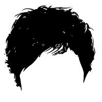アシンメトリーの髪型です。