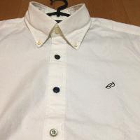 グリーンレーベルのBCRAZY VIYELLA EMBROシャツのアップです。