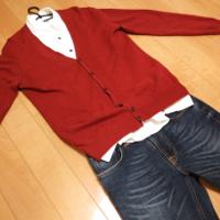 グリーンレーベルのBCRAZY VIYELLA EMBROシャツの冬コーデです。