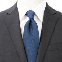 スーツカンパニーのネイビー無地ネクタイです。