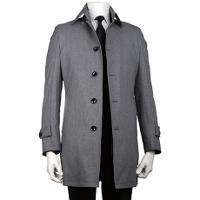 スーツセレクトのグレーステンカラーコートです。