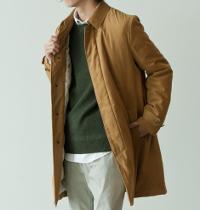 アダムエロペのステンカラーコートです。