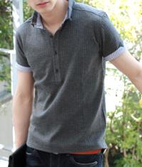 スプートニクスのグレー系ポロシャツです。