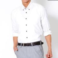 ビズフロントのクールビズ長袖腕まくりシャツです。