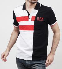 モダンブルーのアルマ―ニのポロシャツです。