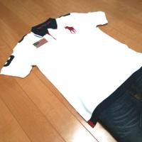 ポロラルフローレンのポロシャツコーデです。