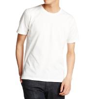 メンズメルローズの白無地Tシャツノームコアです。