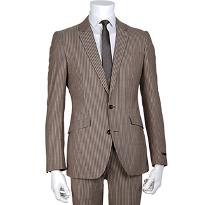 スーツセレクトの柄物ブラウンスーツです。