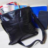 m0851の黒ショルダーバッグです。